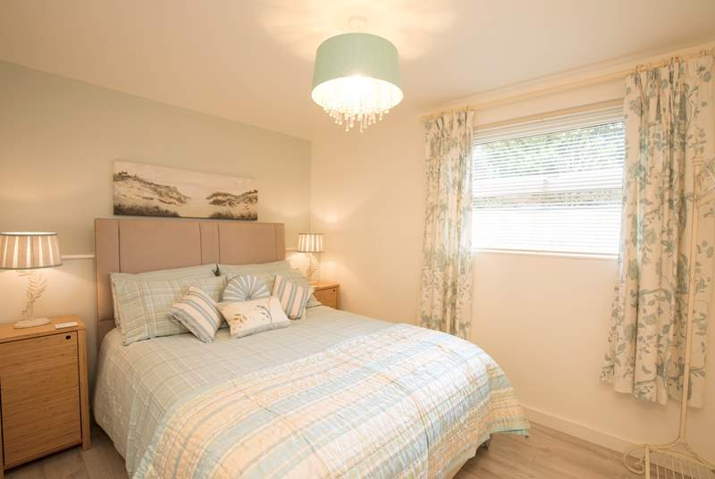 The master bedroom has been beautifully decorated and is a perfect sanctuary for relaxation.