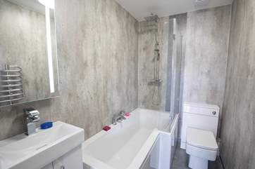 The new fully fitted bathroom is great for a relaxing bubble bath or an awakening shower.