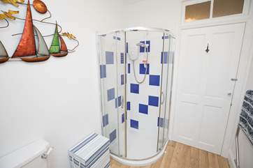 Upstairs is the family shower-room, put on your best voice for a sing-song in the shower.