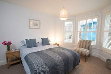 On the ground floor is this lovely double bedroom.