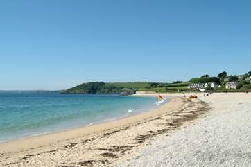 Gyllyngvase beach is only a mile away, perfect for watersports and overlooked by a lovely beachside restaurant and bar.