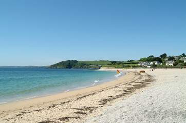 The beach at Gyllyngvase is less than a mile away.