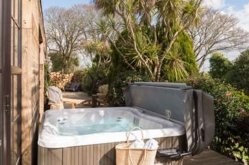 Your private hot tub awaits, what could be nicer after a day out exploring or in the evening for a spot of star gazing.
