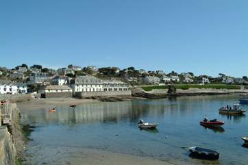A foot ferry sails from the Prince of Wales Pier in Falmouth to beautiful St Mawes.