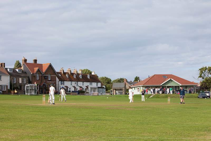 The local cricket team play weekly on the village green.