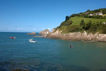 As well as the sandy beaches, the North Devon coastline has cliffs and rocky coves to explore. This is Combe Martin