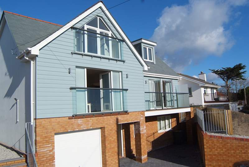 Waterhayes, overlooking the fabulous estuary at Appledore, is a brand new build property with a spacious contemporary interior.