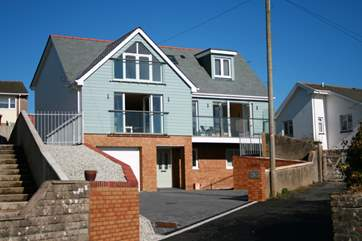 Waterhayes, overlooking the fabulous estuary at Appledore, is a brand new build property with the bonus of private off road parking for several cars!