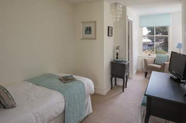 Bedroom 3 is a very pleasant and spacious single room, with a fabulous estuary view - not forgetting your very own en suite shower-room and TV.