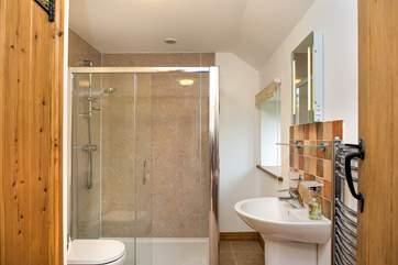 The modern family shower-room.