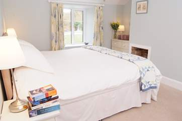 There are two lovely bedrooms - this is the master bedroom.