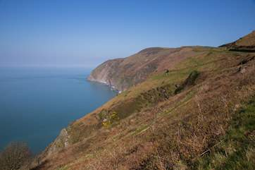 Where Exmoor meets the sea - dramatic cliffs and scenery.
