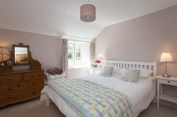 This is the first of the two beautifully presented double bedrooms.