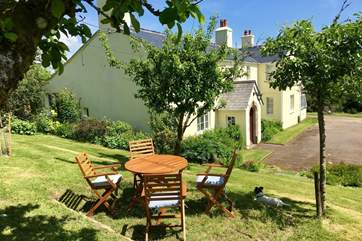 Guests have their own garden area just above the cottage, with the most amazing panoramic views.