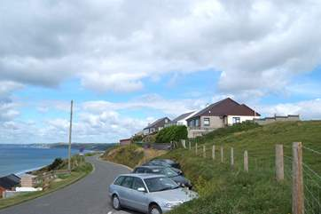 The road leading to Gulls Roost, the parking-area is on the left.