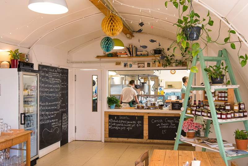 Stop off for morning coffee or a delicious lunch at The Canteen at Maker