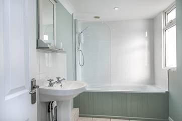 The en-suite bathroom for bedroom one