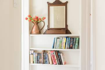 Take your pick of a good book on the landing.