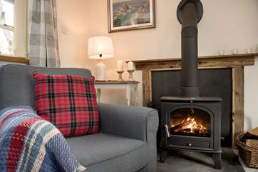 Thanks to the toasty wood-burner this is a great retreat all year round.