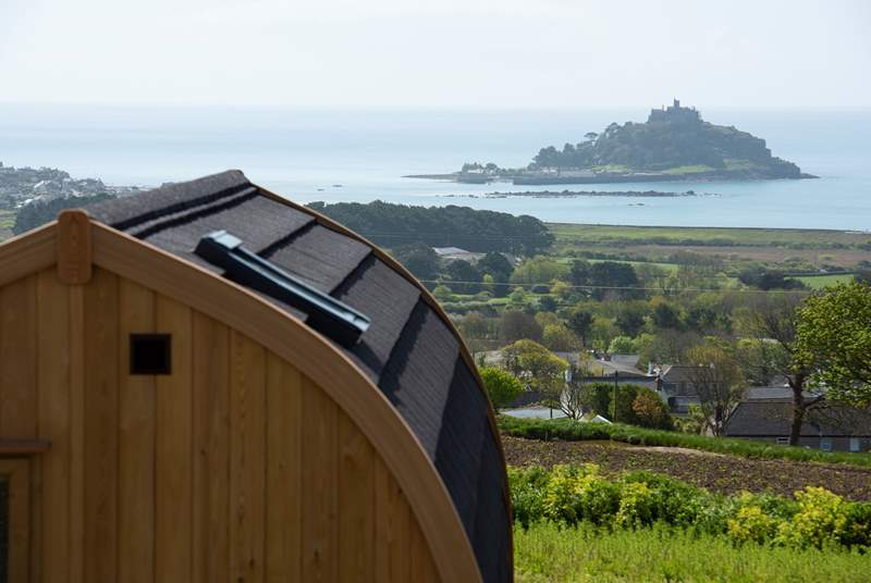 The spectacular view over to St Michael's Mount.