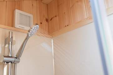 Hot shower - a Classic Glamping must!
