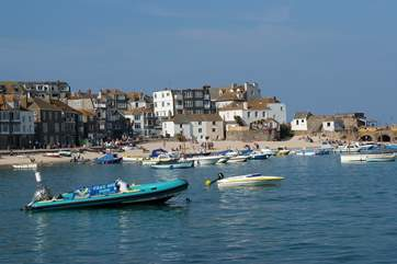 The bustling town of St Ives is well worth a visit.