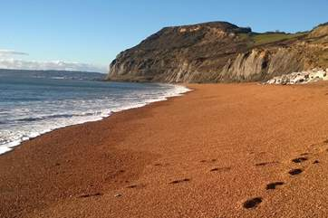 The stunning Jurassic Coast from east Devon through into Dorset is dotted with fishing villages, seaside towns and of course beaches !