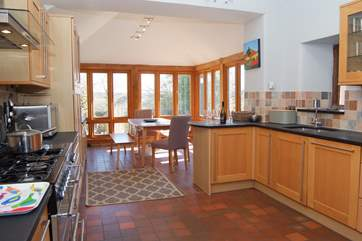 The main house has a wonderful contemporary kitchen which still keeps its farmhouse feel and character.