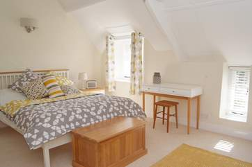 This is the double bedroom in the cottage part of this exceptional property.