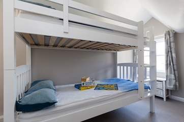 The bunk bedroom is ideal for children but as the bunks are 3ft and with proper sprung mattresses, adults will be comfortable too.