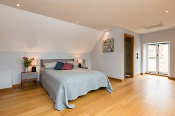 This is the very large en-suite bedroom in the main house but with its own staircase and so feeling lovely and private and peaceful.