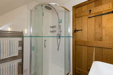 The ensuite has a large shower and is a really good size.