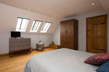 This is another view of the double bedroom which is set apart from the rest of the house and is therefore a great retreat should it be needed !