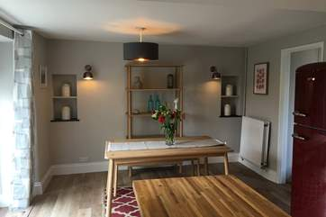 This is the dining area in the cottage