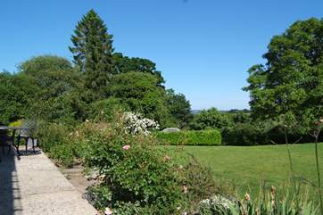 The gardens are simply stunning, with large areas of lawns for children to play, beautiful flower beds and borders and a huge meadow too.