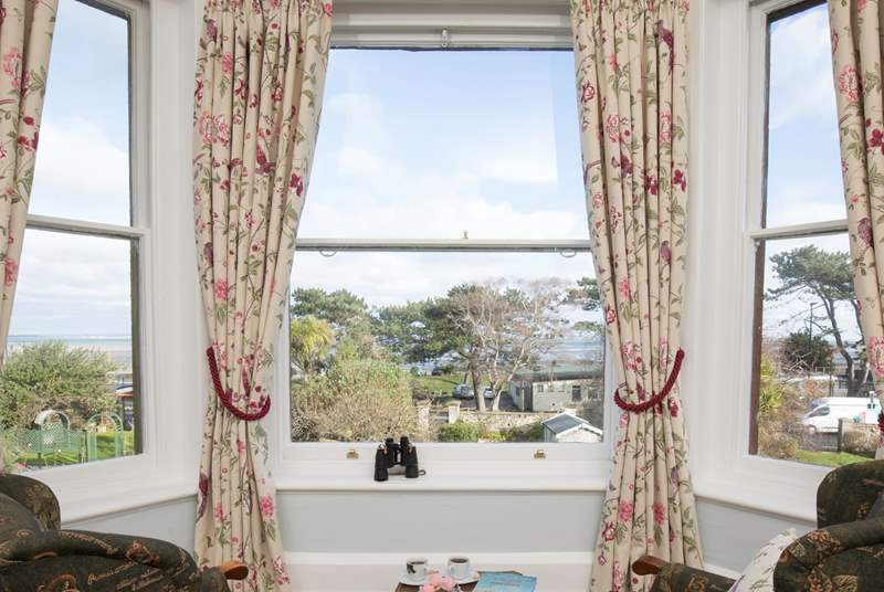 A beautiful bay window to admire the far reaching views across the Solent to Spinnaker Tower in Portsmouth!
