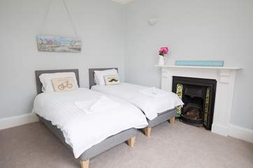 The twin bedroom is 'zip and link' so can be made up as a super-king size bed for flexibility.
