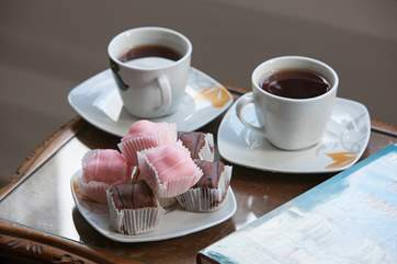 Take a break, have a cup of tea and treat yourself to a cake.