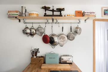 All the pots and pans you need.