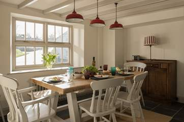The dining-area in the lovely kitchen/dining-room.