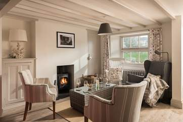 Enjoy a cosy get-together in front of the wood-burner.