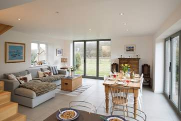 The open plan living-room will ensure you spend quality time together.