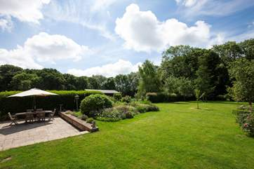 The gardens are large and private with a good sized patio area to relax and enjoy mealtimes