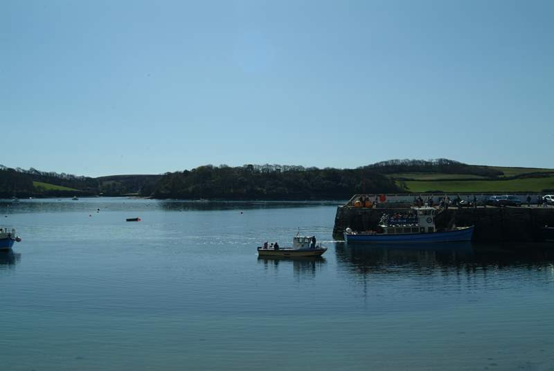 The regular passenger ferry connects St Mawes to Falmouth several times a day.