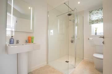 En suite shower-room.