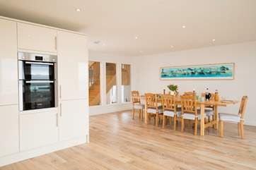 You will most definately feel the WOW factor when entering this property into the open plan kitchen/dining-room.