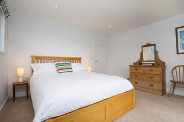 Another double bedroom with Juliet balcony and  views over the nature reserve.