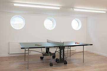 All will enjoy the games-room with table-tennis table on the lower ground floor.