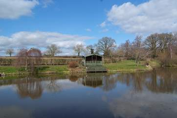 You have your own dedicated fishing lake with a lakeside lodge. Perfect for picnics in a wonderful setting.