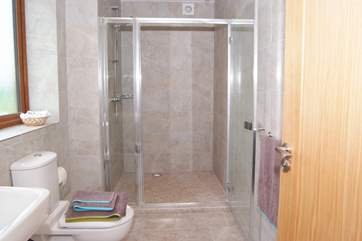 The master bedroom has a really large walk-in shower in its ensuite shower room.